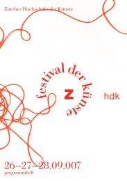 programmheft festival der kuenste 2007 (12'000kb) - Zürcher ...