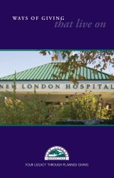 Ways of Giving That Live On - New London Hospital