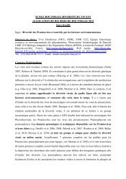Diversité des Prasinovirus - Biologie Intégrative des Organismes ...