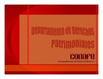 Derechos Patrimoniales - conafe.edu.mx