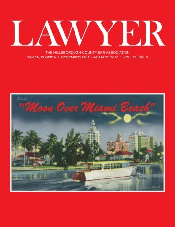 december 2012 - Hillsborough County Bar Association