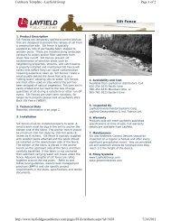 Silt Fence - Northland Construction Supplies