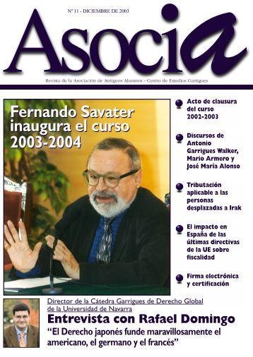 Nº 11, Diciembre 2003 - Centro de Estudios Garrigues