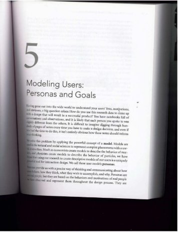 Chapter 5: Modeling Users: Personas and Goals