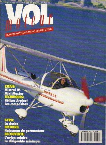 vol moteur n° 60 1991 mistral us