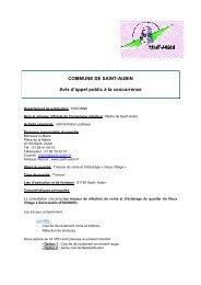 COMMUNE DE SAINT-AUBIN Avis d'appel public à la concurrence
