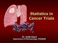 Statistics in cancer trials - Aroi.org
