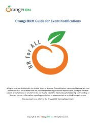 OrangeHRM Guide for Event Notifications