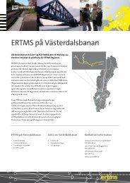 ERTMS på Västerdalsbanan - Banportalen