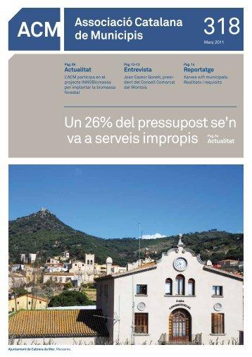 Núm. 318 - Març 2011 - Associació Catalana de Municipis