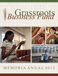 M E M O R I A  A N U A L  2 0 1 2 - Grassroots Business Fund