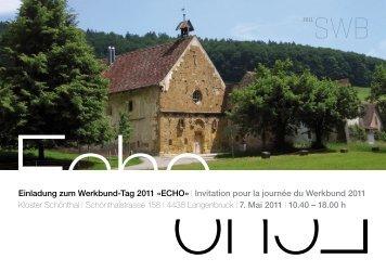 Einladung zum Werkbund-Tag 2011 Â«ECHO - Schweizerischer ...