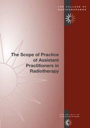The Scope of Practice of Assistant Practitioners in Radiotherapy