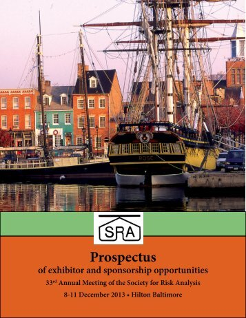 Exhibitor Prospectus - Society for Risk Analysis