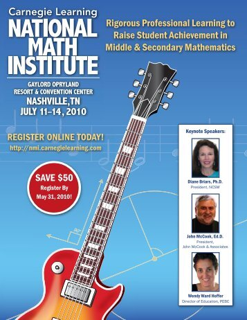 Download the Brochure Now! - Carnegie Learning