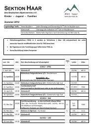 Sommer 2012 - Sektion Haar des dt. Alpenvereins eV