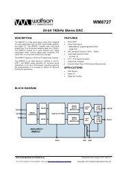 WM8727, Rev 4.7 - Wolfson Microelectronics plc