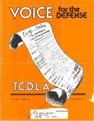 VOLUME 7. NUMBER 5 - Voice For The Defense Online