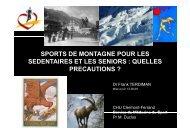 sport de montagne pour les sédentaires et les - Club des ...