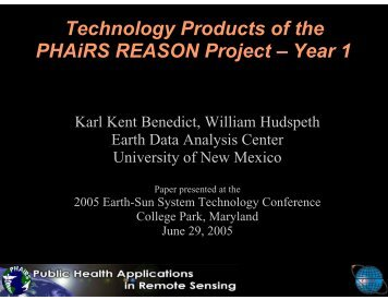 Technology Products of the PHAiRS REASON Project – Year 1