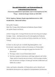 Quo vadis Förderschule? - Katharina-Kasper-Schule