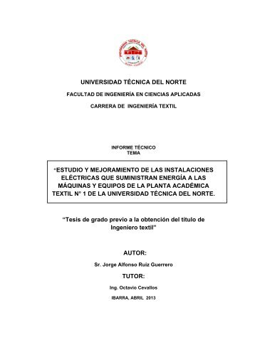 INFORME TECNICO.pdf - Repositorio UTN