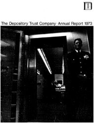 The Depository Trust Company· Annual Report 1973