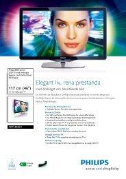 46PFL8685H/12 Philips LED-TV med Ambilight Spectra 2 och ...