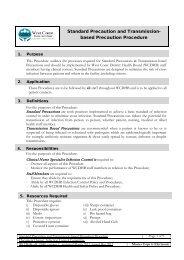 Standard Precautions - West Coast District Health Board