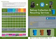 Refuse Collection & Recycling Services - Castlereagh Borough ...