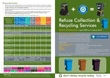 Refuse Collection & Recycling Services - Castlereagh Borough ...