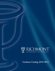 Graduate Catalog 2010-2012 - Richmont Graduate University