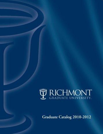 Graduate Catalog 2010-2012 - Richmont Graduate University