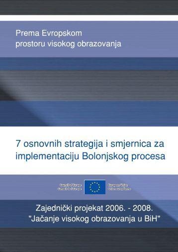 7 osnovnih strategija za implementaciju Bolonjskog procesa