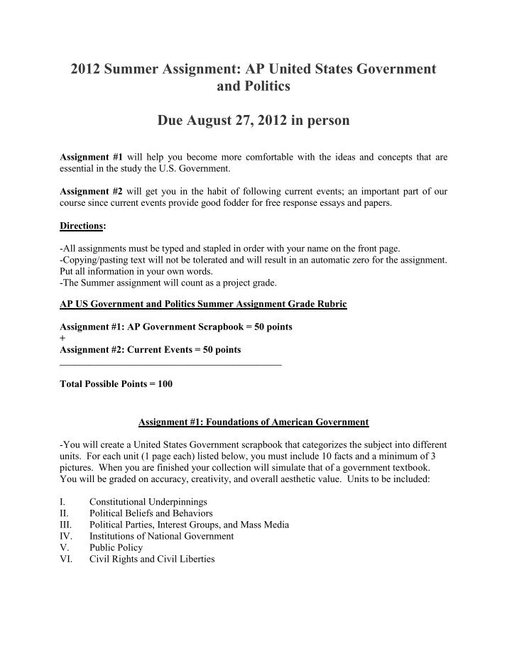 summer assignment ap european history 10th grade ap european history ap european history reading and writing assignment summer, 2018 preface: ap euro is a great course that will challenge and inspire you to new heights of historical understanding the curriculum is so vast and so rich that it behooves us to get.