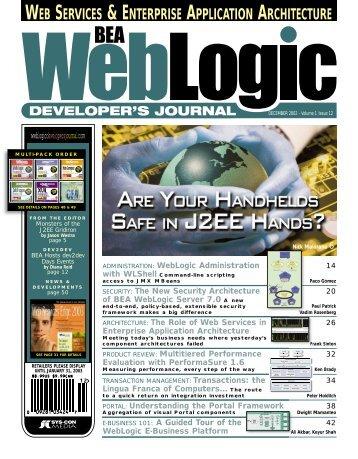 web services & enterprise application architecture - sys-con.com's ...