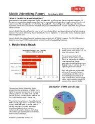 Limbo's Mobile Advertising Report - Mobile Marketing Association