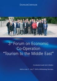 """3rd Forum on Economic Co-Operation """"Tourism to the Middle East"""""""
