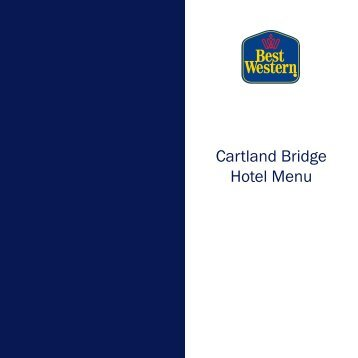 Cartland Bridge Hotel Menu