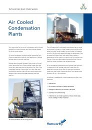 Air Cooled Condensation Plants - Hamworthy