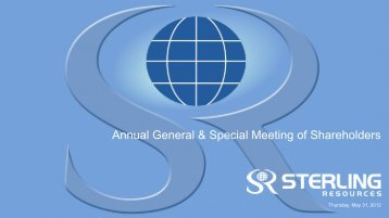 Annual General & Special Meeting of Shareholders - Vcall.com