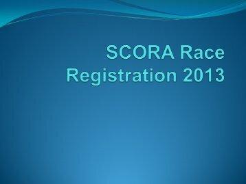 SCORA Registration 2013 Update Profile