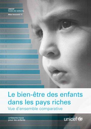 Le bien-être des enfants dans les pays riches - Innocenti Research ...
