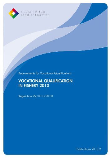 VOCATIONAL QUALIFICATION IN FISHERY 2010