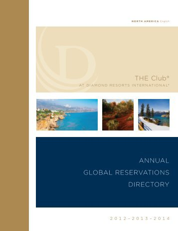 THE Club® annual global REsERvaTions DiRECToRy - Diamond ...