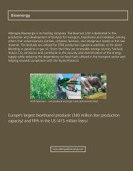 Europe's largest bioethanol producer (340 million liter ... - Abengoa