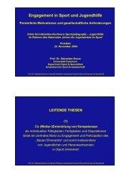 Vortrag - Schnittstellenkonferenzen Sport- und Jugendhilfe