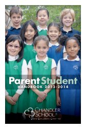 Parent‑Student Handbook - The Chandler School