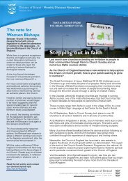 If the newsletter doesn't load below, click here - Diocese of Bristol