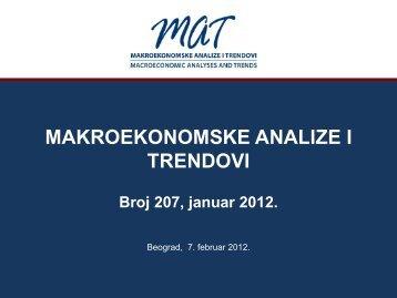Prezentacija 207. broja časopisa ... - Ekonomski institut